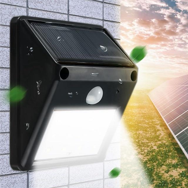 mising waterproof 12 led solar light solar power pir motion sensor