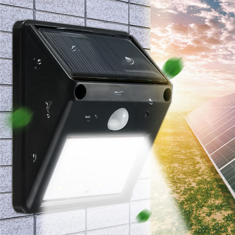 Solar PIR Bewegungssensor Lichtsensor 136LED Licht Wasserdicht Außen Garten Lamp