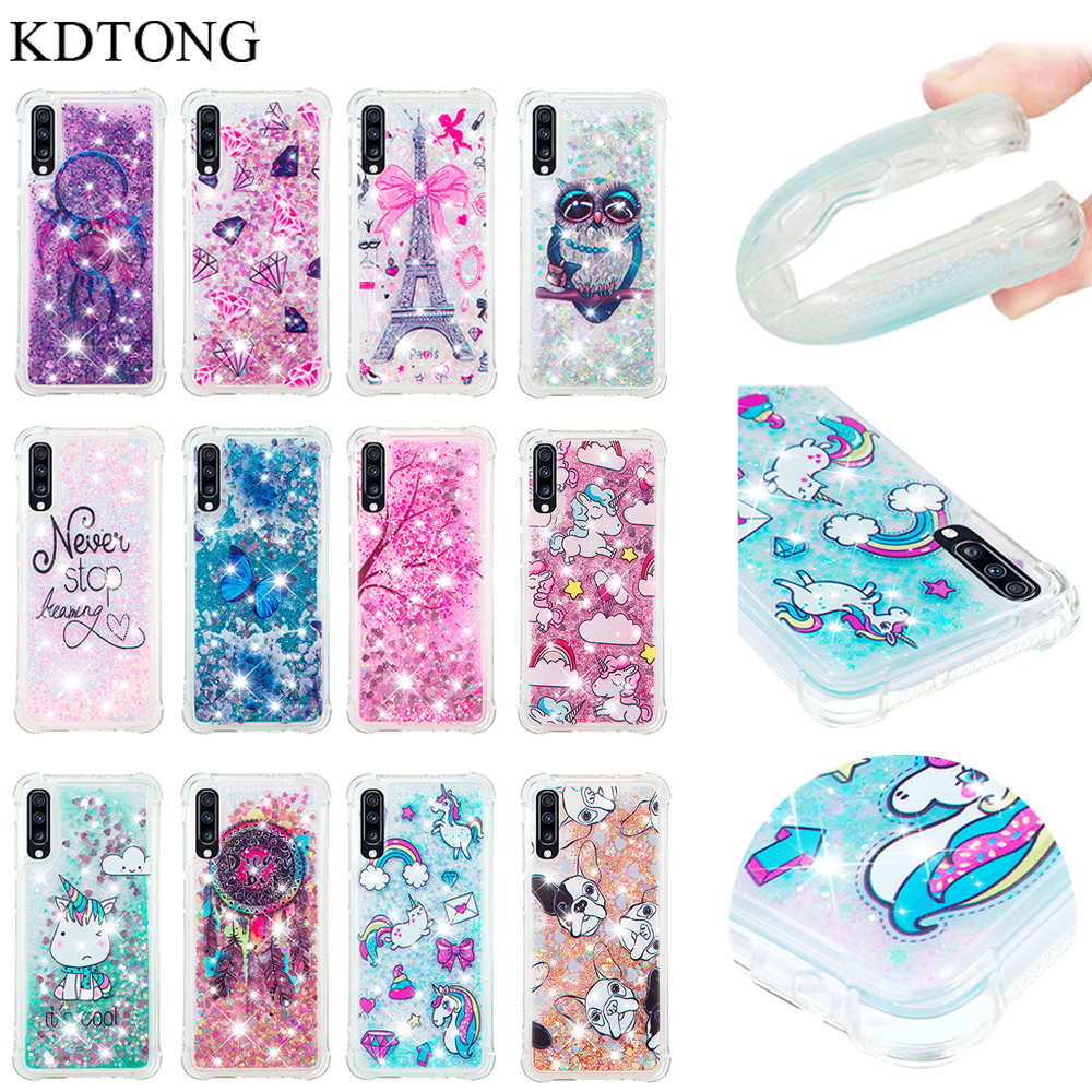 KDTONG <font><b>Case</b></font> sFor <font><b>Samsung</b></font> <font><b>Galaxy</b></font> A50 <font><b>A70</b></font> <font><b>Case</b></font> <font><b>Cute</b></font> Glitter Liquid Soft Silicone TPU Cover For <font><b>Galaxy</b></font> <font><b>A70</b></font> A50 A 50 <font><b>Case</b></font> Cover Capa image