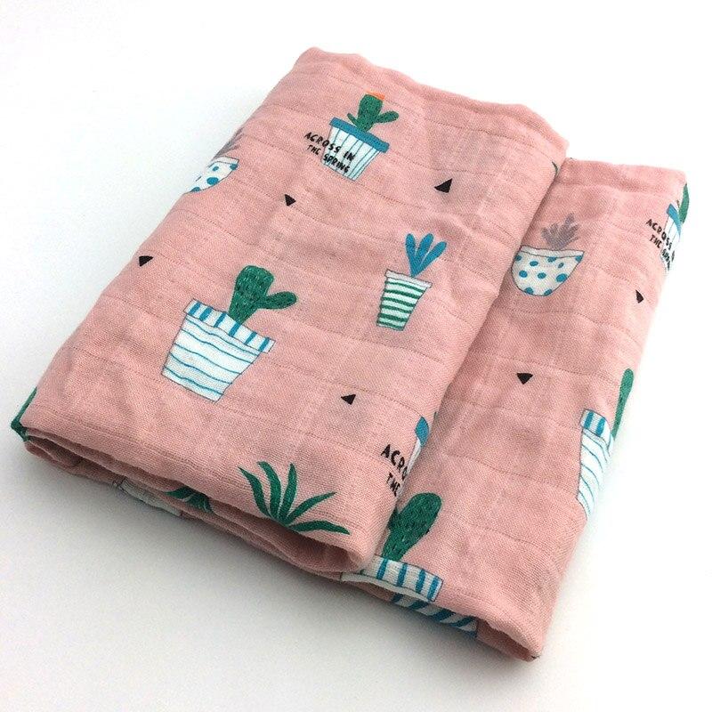 Новинка; хлопковое детское одеяло для новорожденных; мягкое детское одеяло из органического хлопка; муслиновое Пеленальное Одеяло для кормления; тканевое полотенце; шарф; детские вещи - Цвет: 07