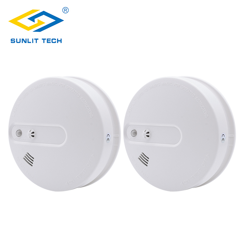 все цены на 2pcs Portable Fire Smoke Detector WiFi Wireless 2 in 1 433MHz Smoke Temperature Detector Sensor Alarm For Home Security System