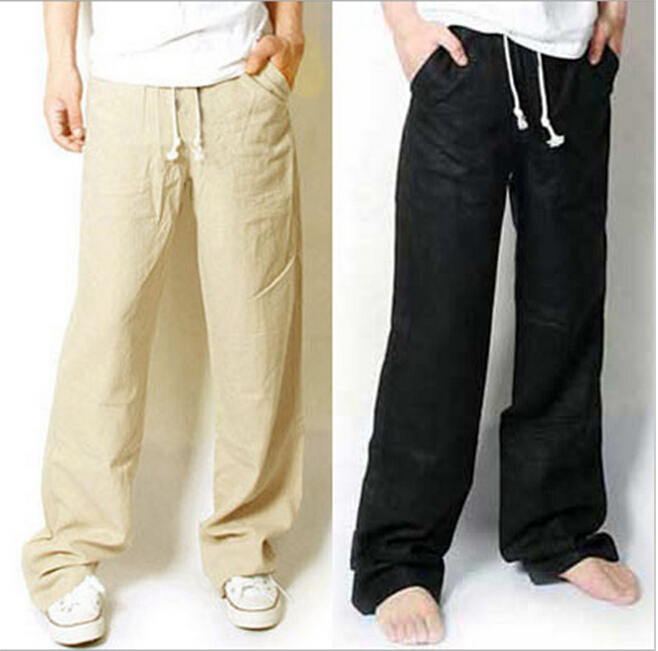 loose linen pants for men - Pi Pants
