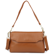 Cowhide Leather Female Messenger Bag European And American Large Capacity 2018 New Arrivals Cover Style Women's Shoulder Bags ms new leather european and american wind bucket bag leather hand shoulder bag messenger large capacity female bag