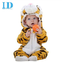 IDGIRL Baby Clothes Rompers Newborn Spring Winter Long Sleeve Clothes Infant Cartoon Flannel Clothing Baby Girl Boys Jumpsuits(China)