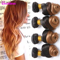Ombre Human Hair Peruvian Ombre Hair Loose Wave 4 Bundles T1B/27 Two Tone 7A Unprocessed Peruvian Virgin Hair Loose Wave Bundle