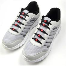 лучшая цена 12pcs/lot  No Tie Black Round Creative No Tie Shoelaces Elastic Silicone Shoe Lace