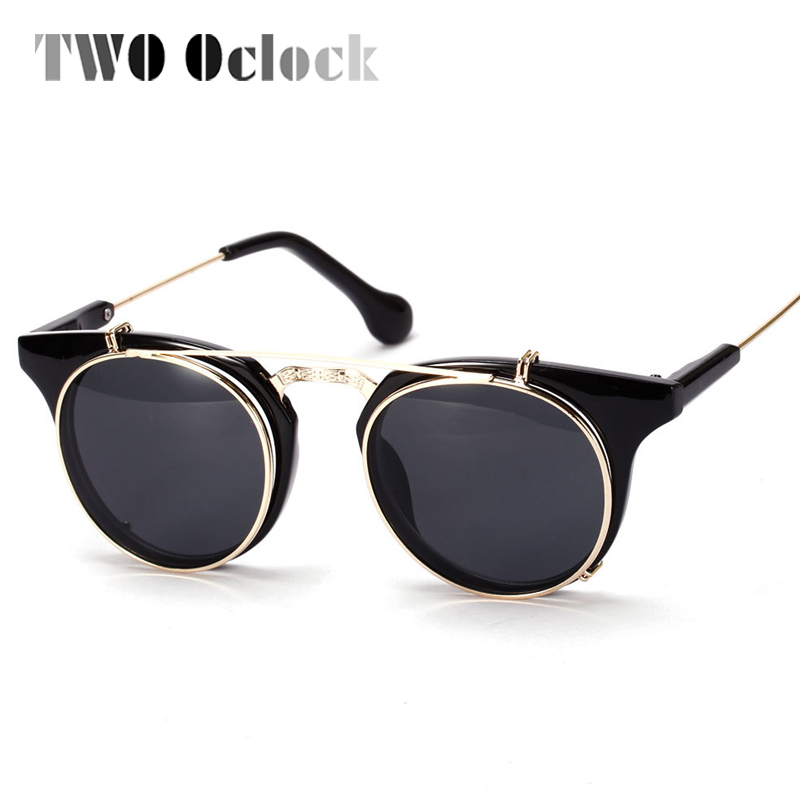 Two Oclock Vintage Steampunk Goggles Clip On Sunglasses