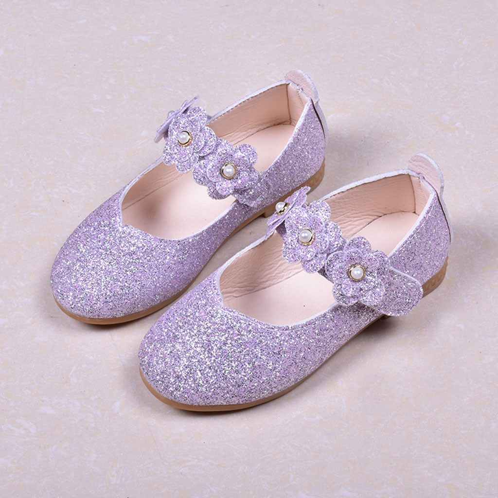Toddler Kids Girl Sneaker Pricness Party Shoes Casual Single Leather Beach Shoes