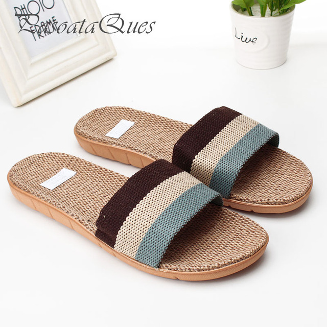 ba1553a97ea0bb Hemp Men Women Shoes Couples Breathable Home Summer Indoor Spring House  Slippers Pasoataques Brand Asspfhp102