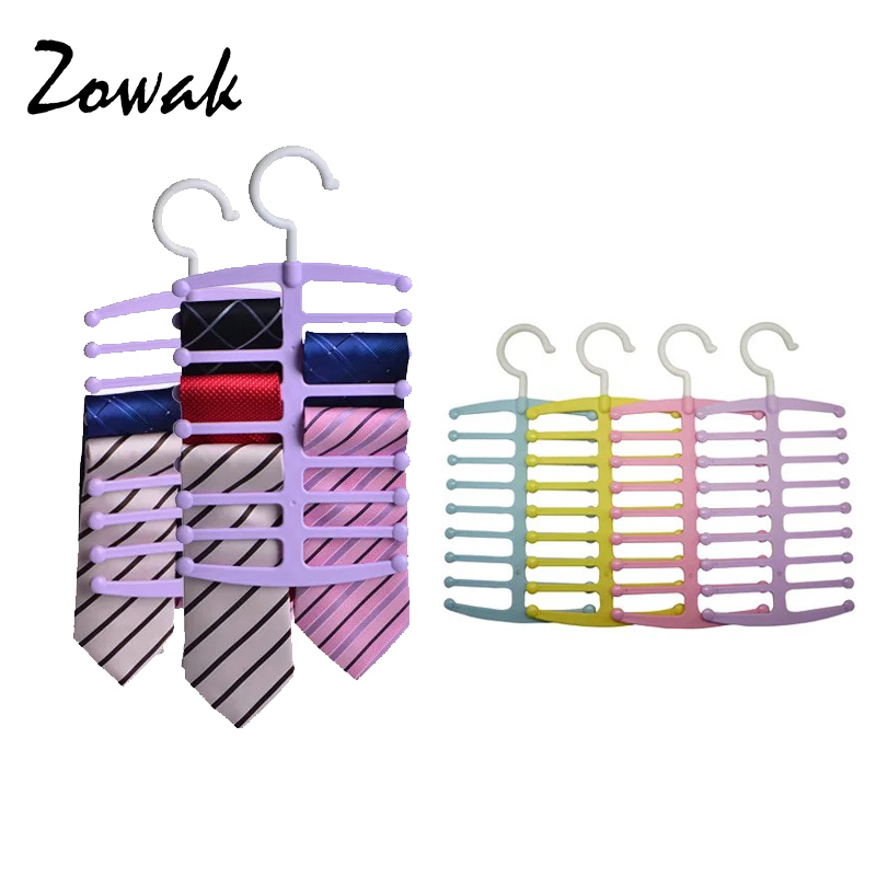 Tie Rack Organizer Hanger Holder Fish Bone Shaped Neck Ties Scarves Belt Hanger Rotating up to 16 Ties Closet Storage Hook New