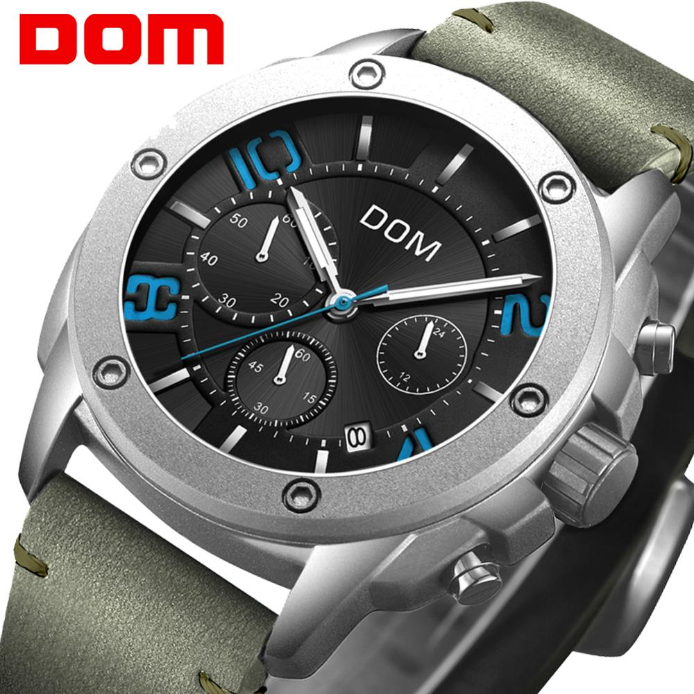 DOM brand military series mens watch waterproof sports man quartz wristwatch business casual clock male chronograph 2019 NewDOM brand military series mens watch waterproof sports man quartz wristwatch business casual clock male chronograph 2019 New