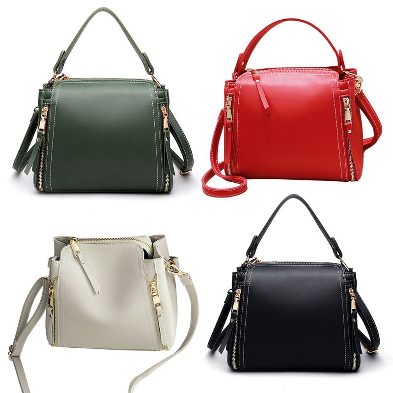 1Pc Ladies Women Messenger Crossbody Satchel Leather Bucket Small Shoulder Bag Tote Purse Handbag