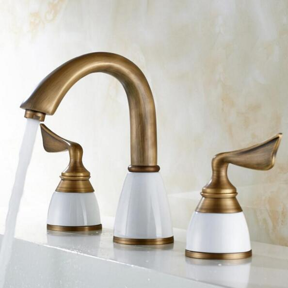 New Arrivals luxury basin faucet 8 inch water tap brass ceramic & diamond bathroom faucet antique widespread basin sink faucet new arrivals luxury basin faucet 8 inch water tap brass ceramic