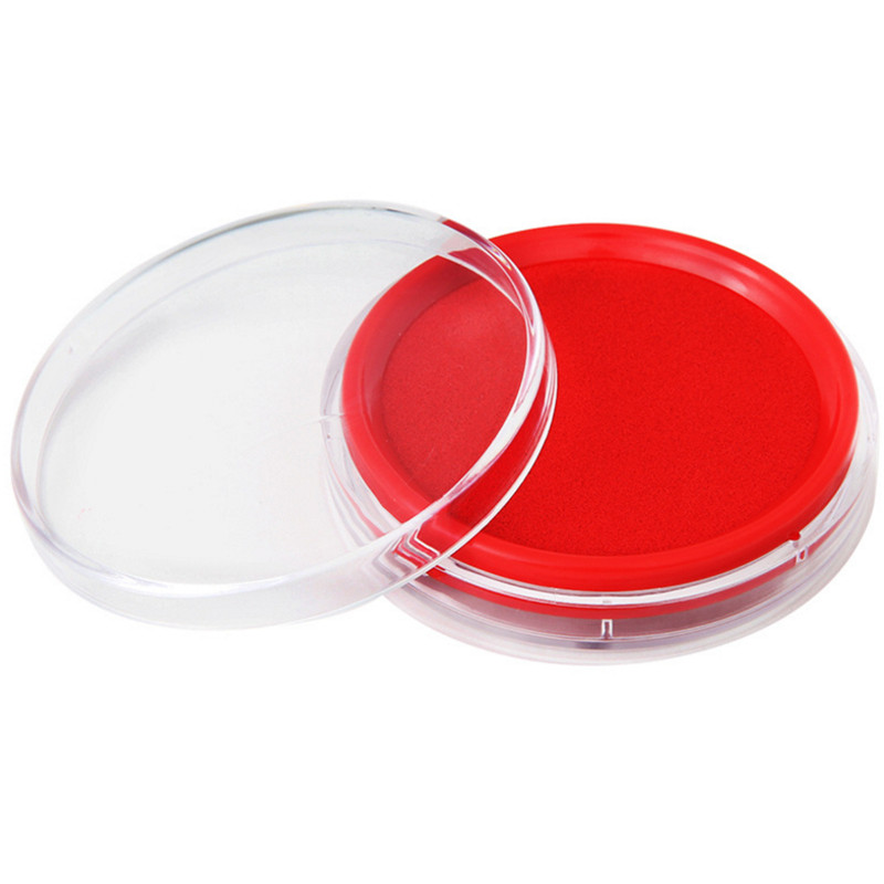 Ink Pad Printing Fast Dry Ink Mud Red Financial Versatile Office Stationery Supplies 9863