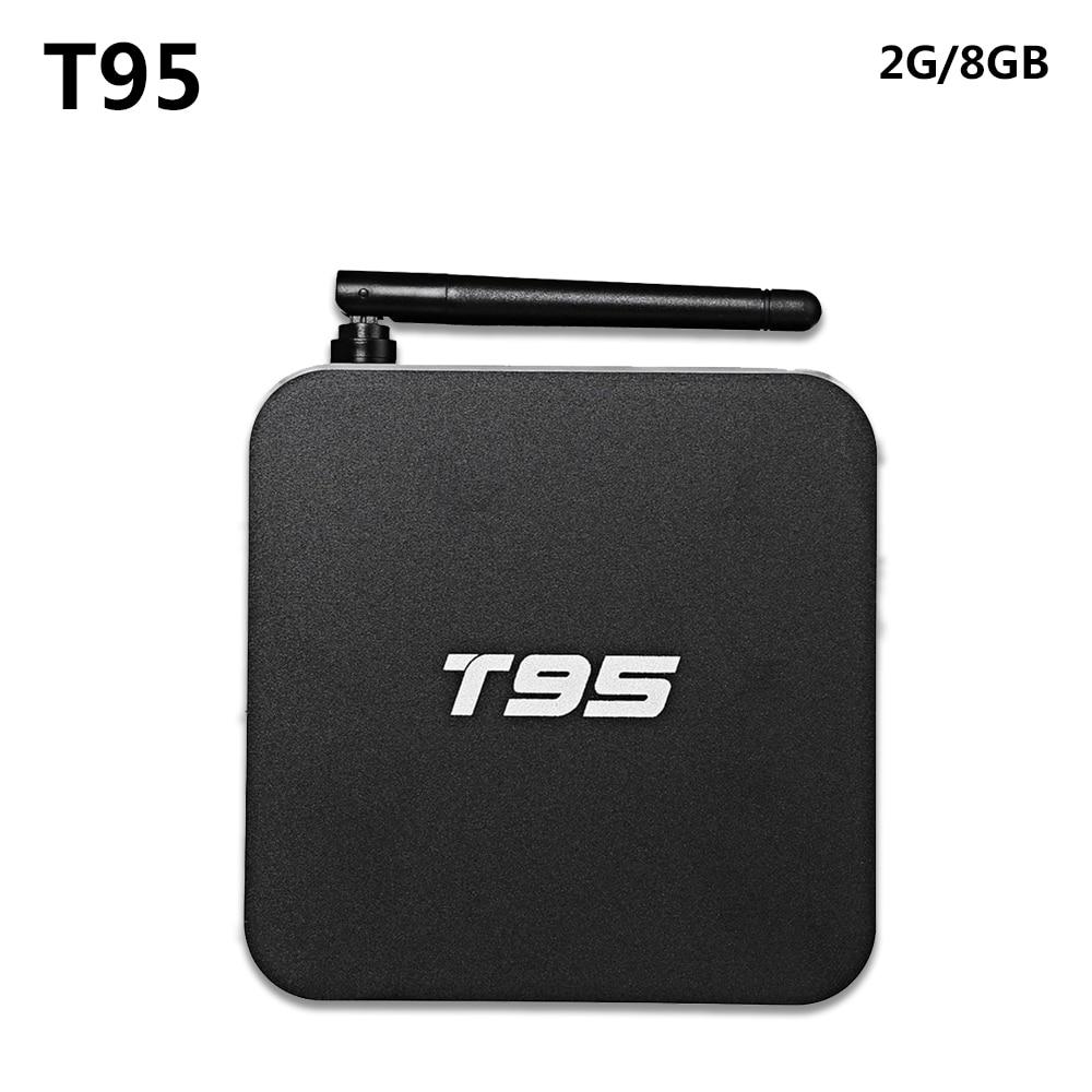 T95 Metal Case Amlogic S905 Quad Core Andorid 5.1 TV BOX 2GB/8GB 2.4G/5GHz Dual WiFi KODI 16.0 ADD ONS Pre-installed m8 fully loaded xbmc amlogic s802 android tv box quad core 2g 8g mali450 4k 2 4g 5g dual wifi pre installed apk add ons