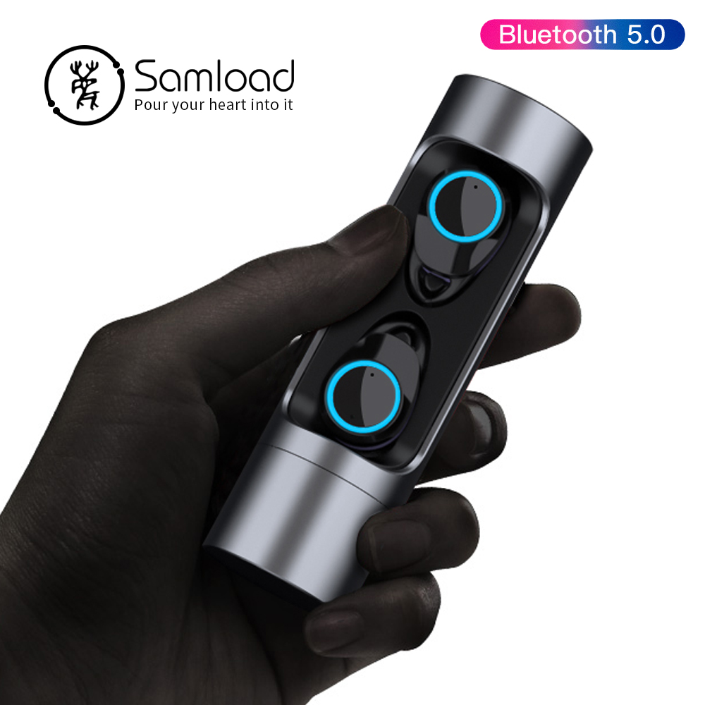 Samload Bluetooth 5.0 Earphone Stereo Wireless Earbud Waterproof Headphones With mic Charging box For Apple iPhone SE 7 8 X Siri-in Bluetooth Earphones & Headphones from Consumer Electronics    1