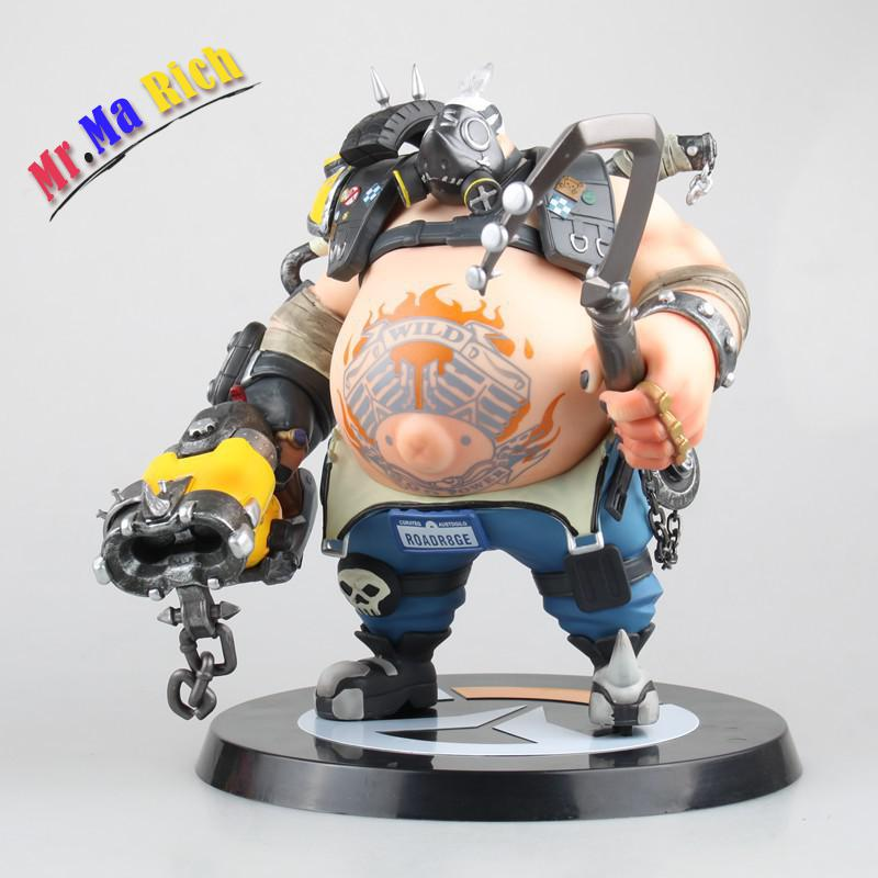 Game Figure 24cm Roadhog Mako Rutledge Pvc Action Figure Gift Collectible Model Toys Doll naruto kakashi hatake action figure sharingan ver kakashi doll pvc action figure collectible model toy 30cm kt3510
