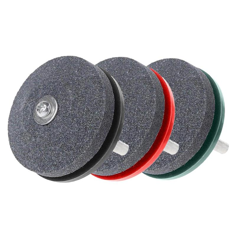Hot Sale 1/2/3/4/5/6PC Garden Lawn Mower Sharpener Lawnmower Sharpener For Power Hand Drill Knife Sharpening Stone Grindstone