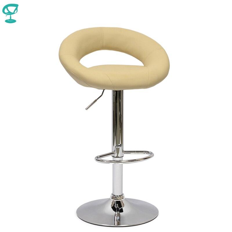 94766 Barneo N-84 en cuir cuisine petit déjeuner tabouret de Bar pivotant chaise de Bar couleur beige livraison gratuite en russie