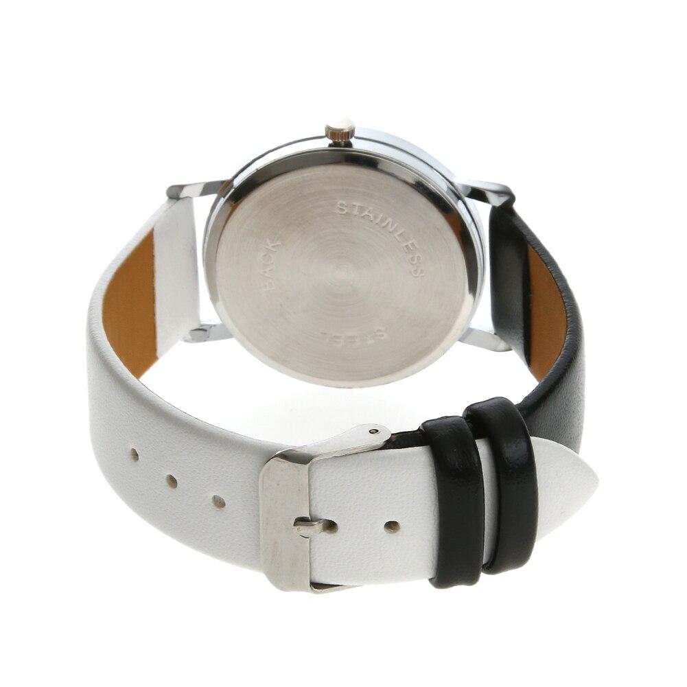 211254e6977ea Mode noir blanc Hit couleur montre femmes dessin animé chat impression  décontracté Quartz montre bracelet montre femme dans Montres femmes de  Montres sur ...
