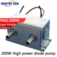 1064nm 200W High Power Diode Pumped Nd YAG Laser Cavity Size 130 64 72MM