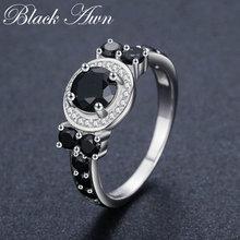 Женские свадебные кольца с черной шпинелью Изящные Ювелирные