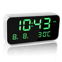 LED Music Alarm Clock Digital Snooze Clocks Despertador Digital De Mesa 12/24 Hour System 25 Music Ringtones