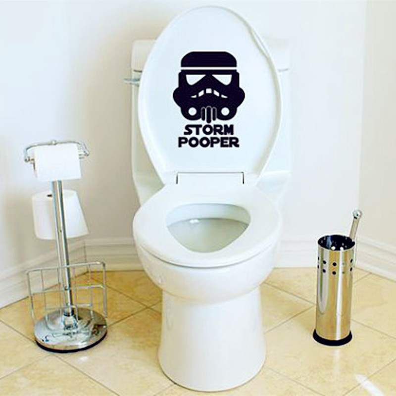 2016 New Hot - Toilet Decals Star Wars Inspired Storm Fashion Home Decor For Toilet Sticker Star Wars Characters Posters