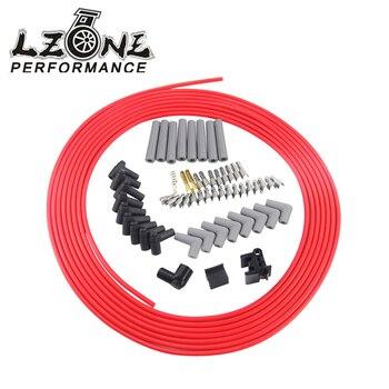 LZONE - 10m / set Spark Plug Wires Spiral Core 8.5mm Red For Chrysler Hemi Pro Stock For Ford Dodge Set JR-SSC01