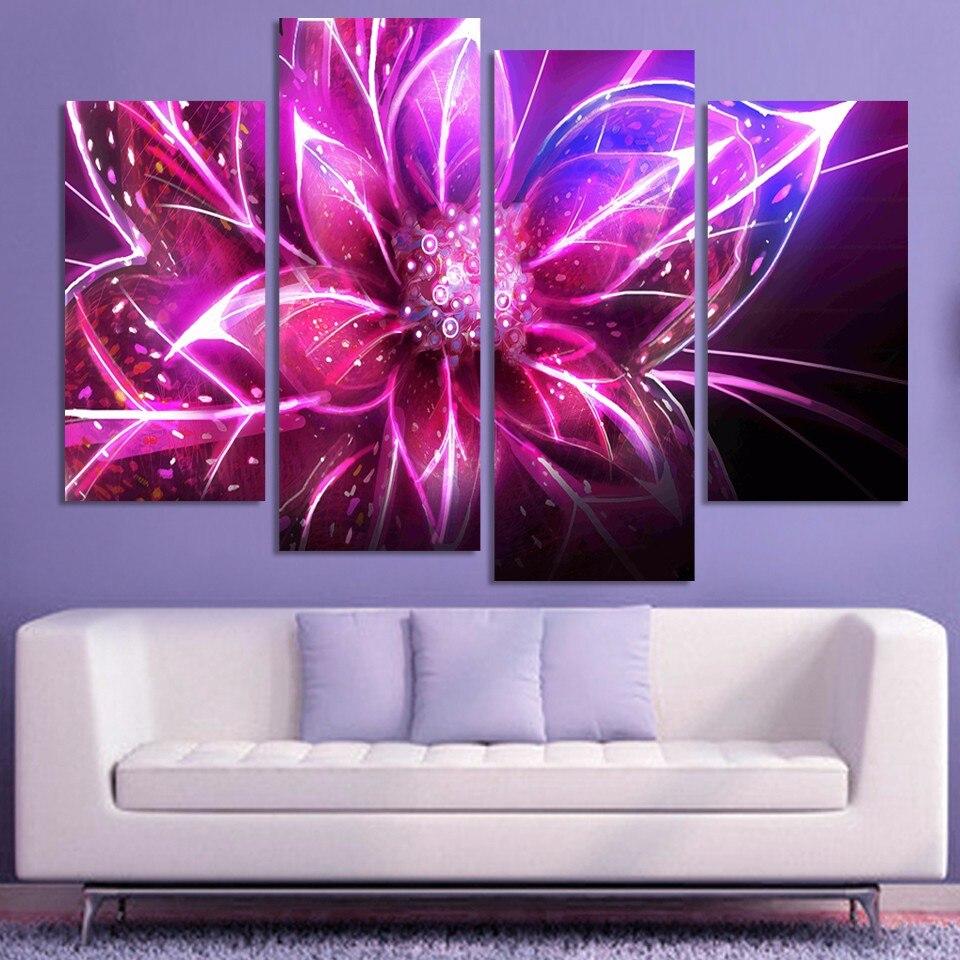 popular modern wall art cheapbuy cheap modern wall art cheap lots  -  pieces free shipping cheap abstract modern wall art purple pink flowerhome decorative arts