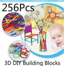 лучшая цена 256PCS DIY Assembling Building Blocks Toy Baby Kids Magic wand Block Model Toy Colorful Educational Toys For Children