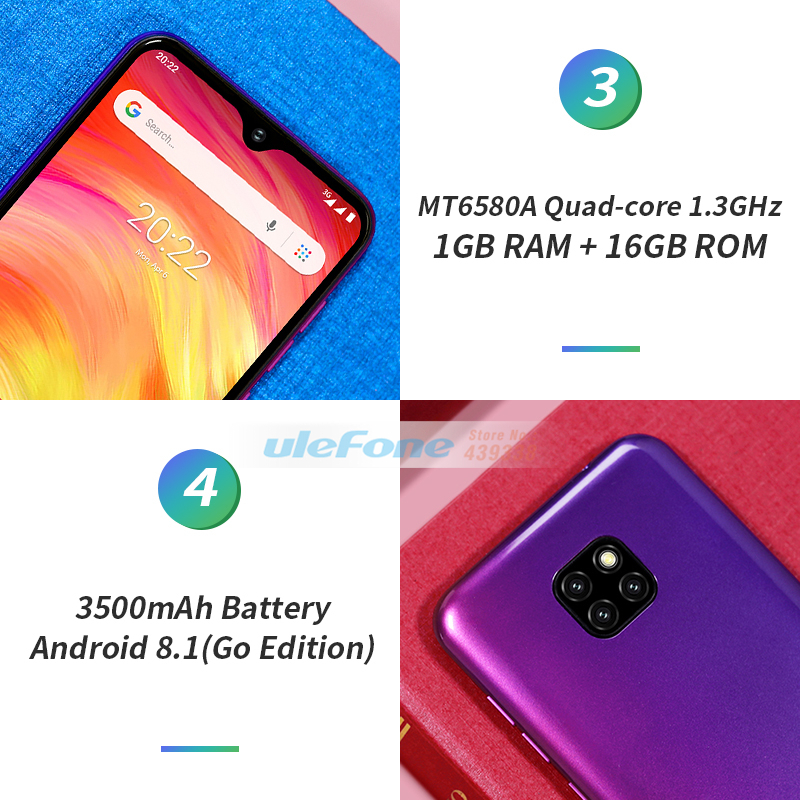 Image 4 - Ulefone Note 7 Smartphone 6.1 inch 1GB RAM 16GB ROM MT6580A Quad 