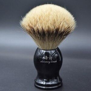 silvertip badger shaving brush for man good quality hand-crafted shaving brush men's grooming kit
