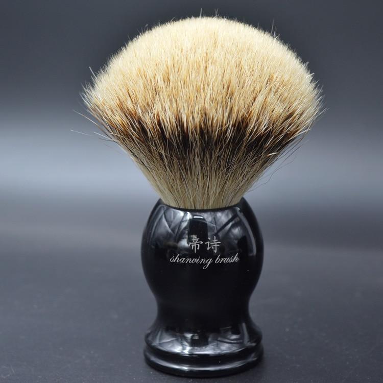 Silberspitz Dachshaar Rasierpinsel für Mann gute Qualität handgefertigte Rasierpinsel Herrenpflege-Set