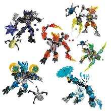 BIONICLE series jungle Rock Water Earth Ice Fire KEEPER action figure 706 Building Block toys