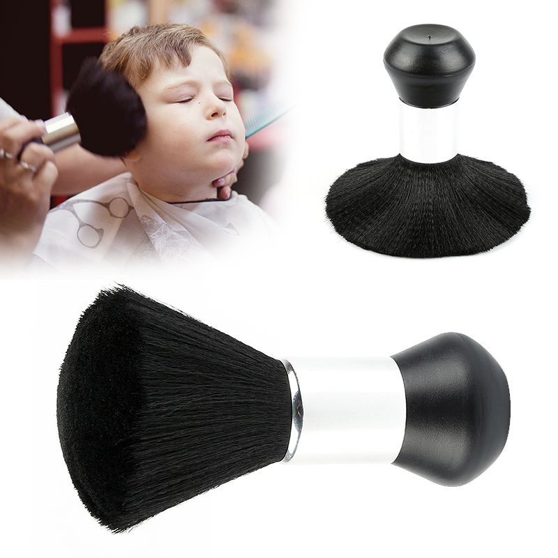 1Pc Professional Soft Black Neck Face Duster Brushes Fibres Bristle Stylist Barber Hairbrush Salon Hair Cut Styling Make Tools