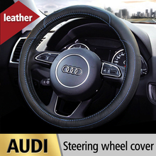 Leather Car Steering Wheel Cover For Audi A1 A3 A4 A4L A5 A6 A6L A7 A8 Q3 Q5 Q7 A4 B6 B7 B8 A6 C5 C6 S3 S4 S5 Auto Accessories