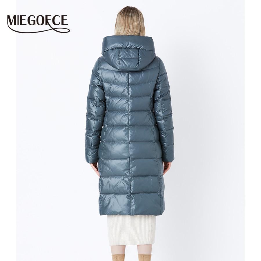 Miegofce 2019 casaco de inverno das mulheres com capuz quente parkas bio fluff parka casaco alta qualidade feminino nova coleção inverno quente - 4