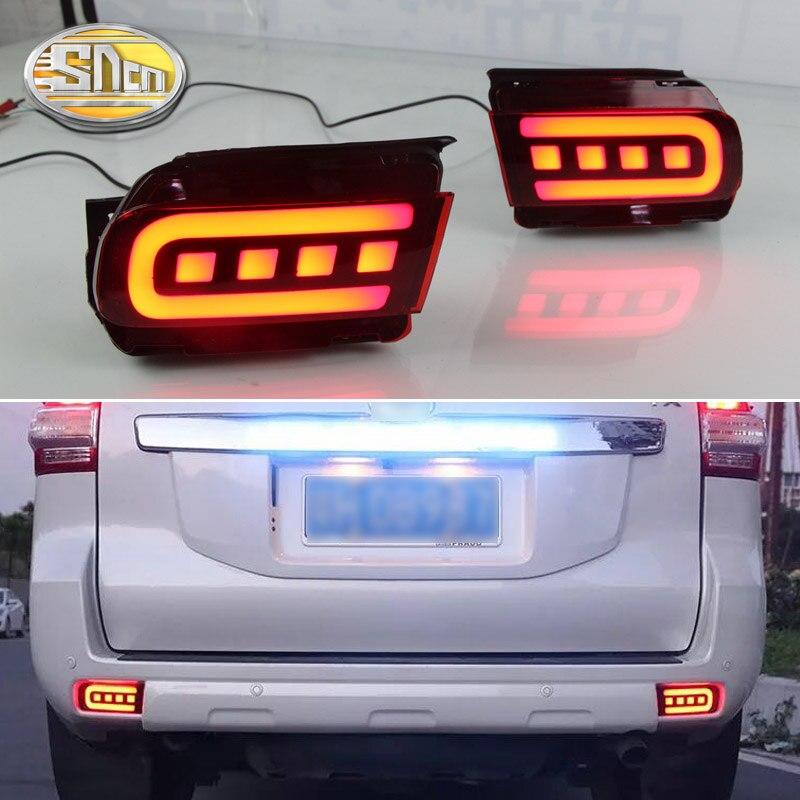 2PCS LED Rear Fog Lamp For Toyota Land Cruiser Prado FJ150 2010 2018 Bumper Light Brake