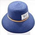 Nuevo Sombrero de Sol de Moda del Verano de Las Mujeres Sombreros de Paja Plegables Patch Mujer NYC Sombreros De Playa