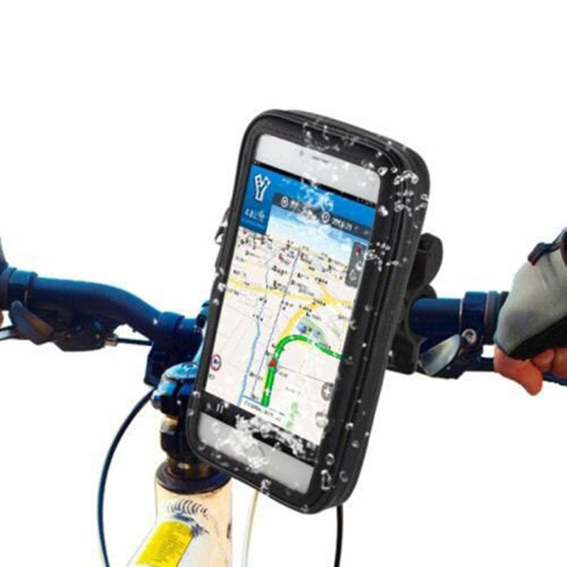 4 to 6 inch Waterproof Bicycle bag Mount Holder Case Touch Screen Cycling Bicycle Accessories for iphone x bike holder case