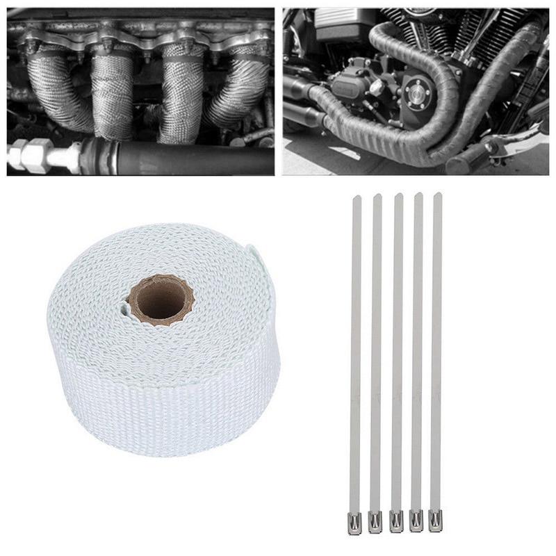 5m High Heat Insulation Fiberglass Wrap Exhaust Header Pipe Tape Cloth 4 Colors