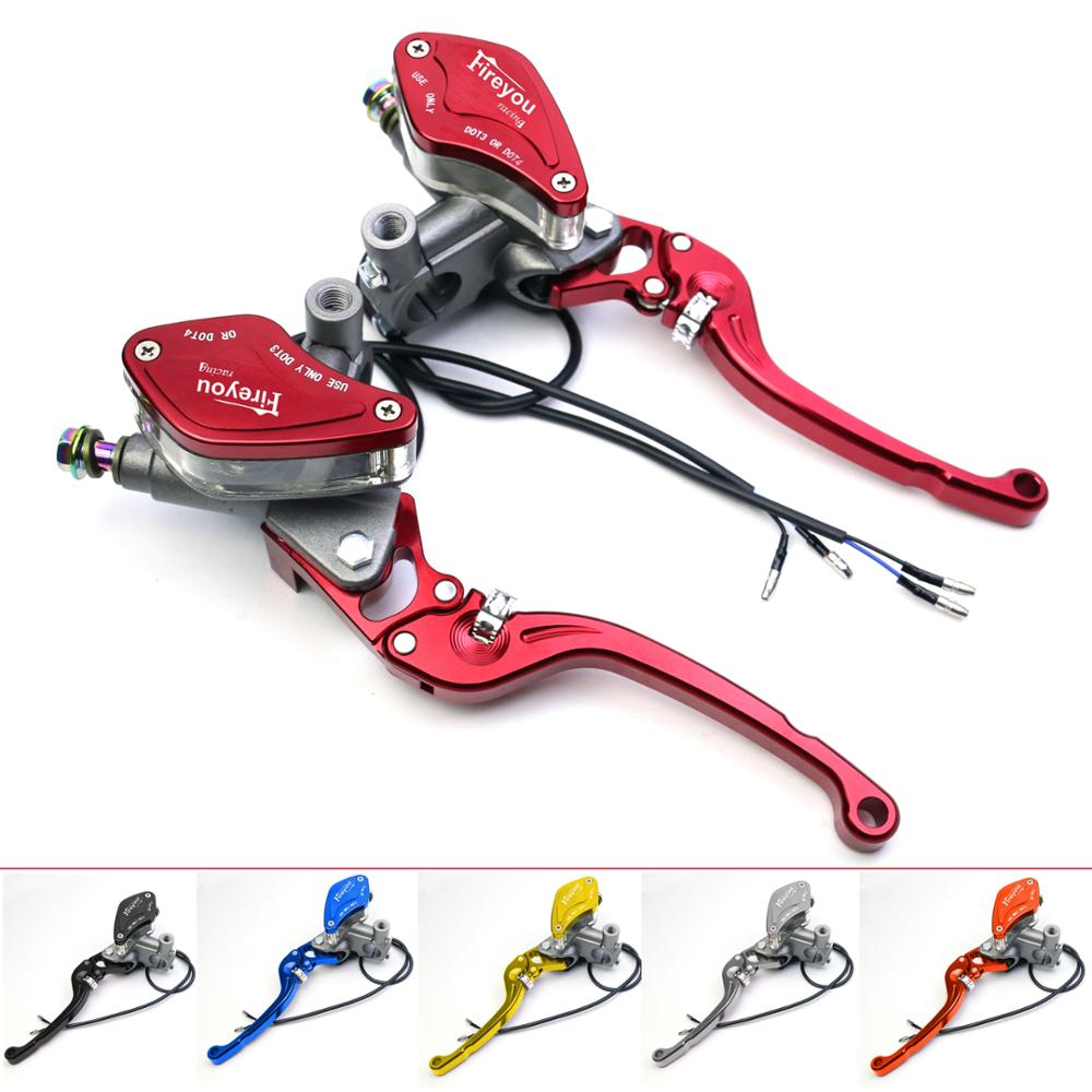 Brake Pump Master Cylinder Motorcycle lever Handlebar Hydraulic clutch Racing motorbike 22mm For Honda Yamaha Kawasaki Suzuki