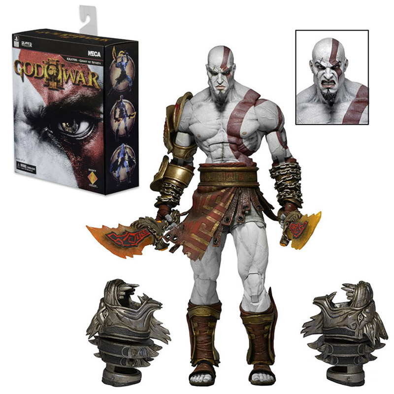 22cm NECA Games God of War Action Figure Ghost Sparta Kratos PVC Figures Ultimate Edition Cartoon Toys Collectible Model Toys neca heroes of the storm dominion ghost nova pvc action figure collectible model toy 15cm