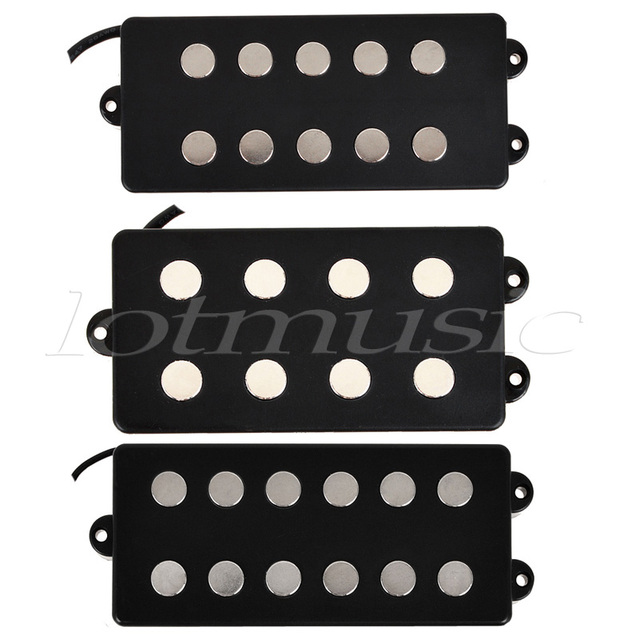 kmise different black 4 5 6 string bass guitar pickup humbucker for music man bass coil tap set. Black Bedroom Furniture Sets. Home Design Ideas