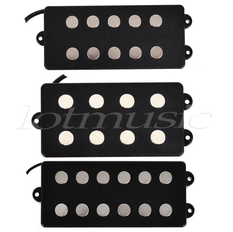 Kmise différent noir 4 5 6 cordes guitare basse pick-up Humbucker pour homme de musique basse bobine robinet lot de 3
