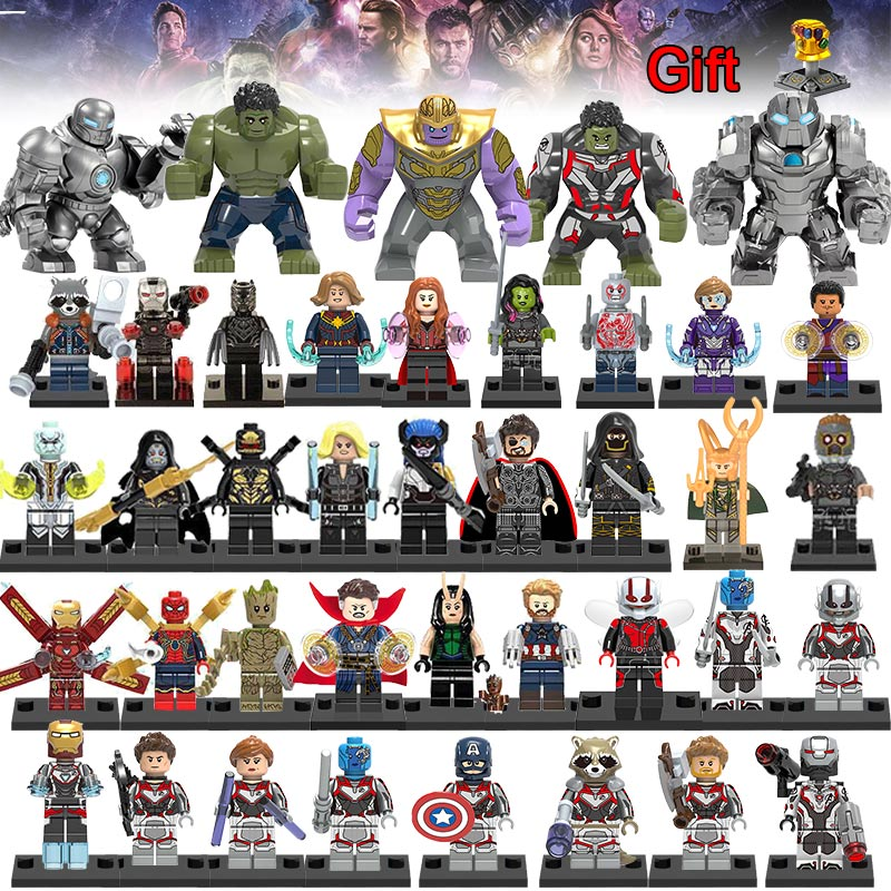 40pcs Legoing Avengers 4 Captain Marvel Endgame Thanos War Machine America Hulk figures Spiderman iron man Building Block Toy40pcs Legoing Avengers 4 Captain Marvel Endgame Thanos War Machine America Hulk figures Spiderman iron man Building Block Toy
