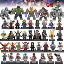 40 шт. Legoing Мстители 4 Марвел Капитан эндигра танос война машина Америка Халк фигурки Человек-паук Железный Человек строительный блок игрушка