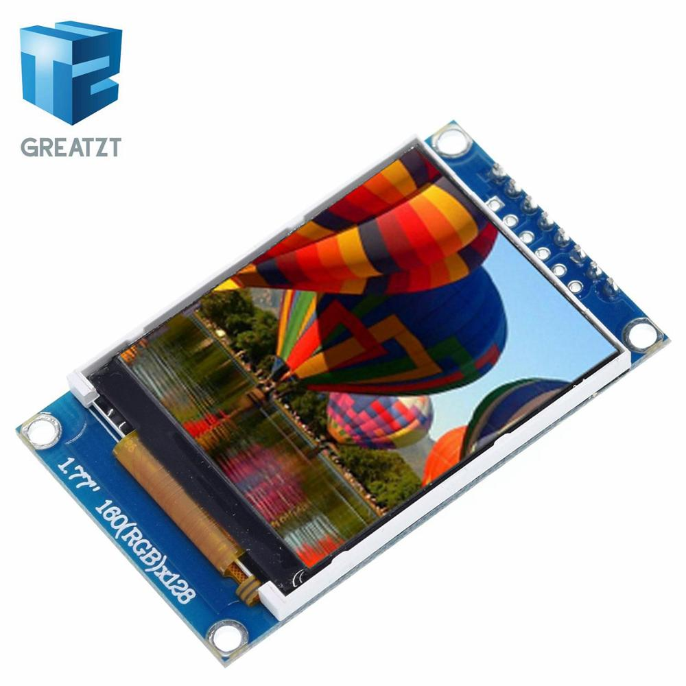 GREATZT 1pcs 1.77 Inch TFT LCD Screen 128*160 1.77 TFTSPI TFT Color Screen Module Serial Port Module