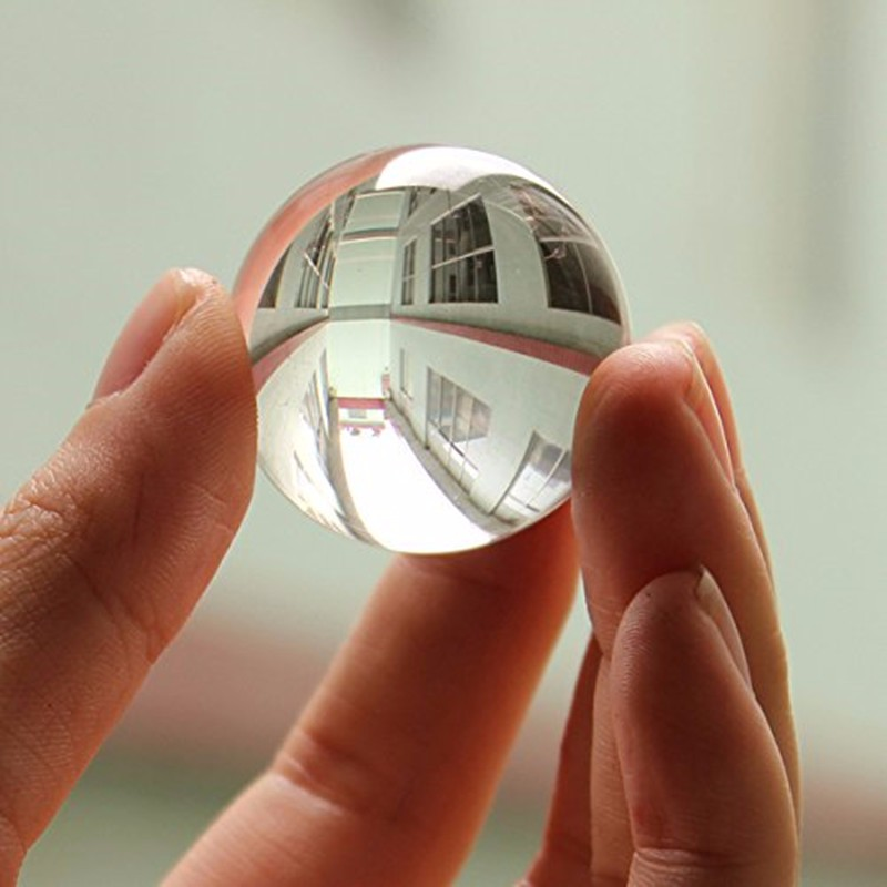 30mm Clear Crystal Ball Transparent Dekorative Glass Ball Ornaments Feng Shui Globe Miniatyr Gaver Hjem Dekor Tilbehør